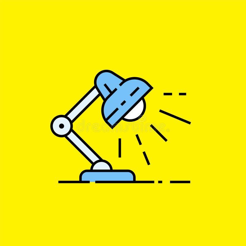 De lijnpictogram van de bureaulamp stock illustratie