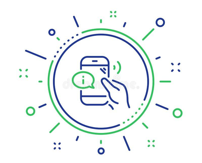 De lijnpictogram van de call centredienst Het teken van de telefoonsteun Vector royalty-vrije illustratie