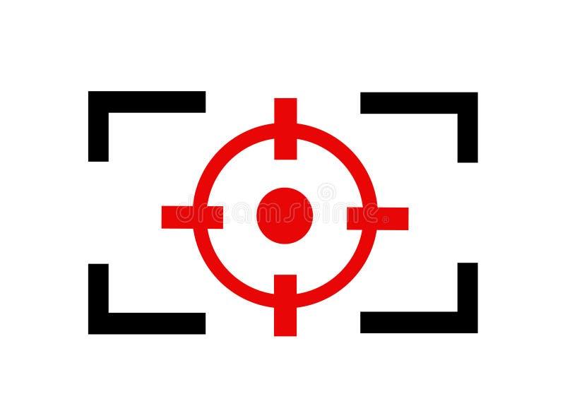 De lijnpictogram van de cameranadruk vector illustratie