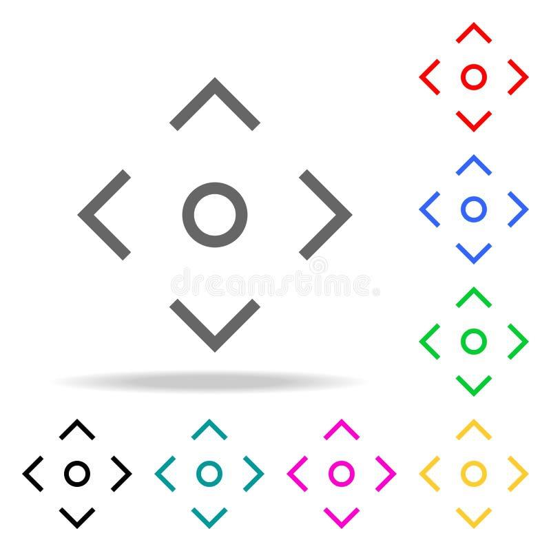 De lijnpictogram van de cameranadruk Elementen in multi gekleurde pictogrammen voor mobiel concept en Web apps Pictogrammen voor  stock illustratie