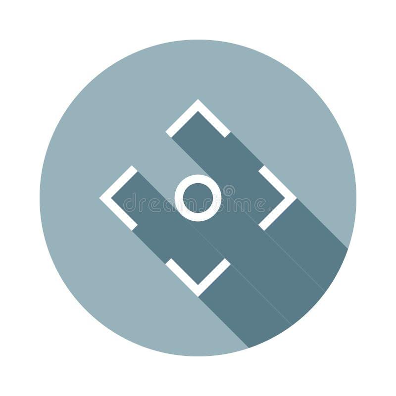 de lijnpictogram van de cameranadruk in Vlakke lange schaduwstijl Één van het pictogram van de Webinzameling kan voor UI, UX word royalty-vrije illustratie