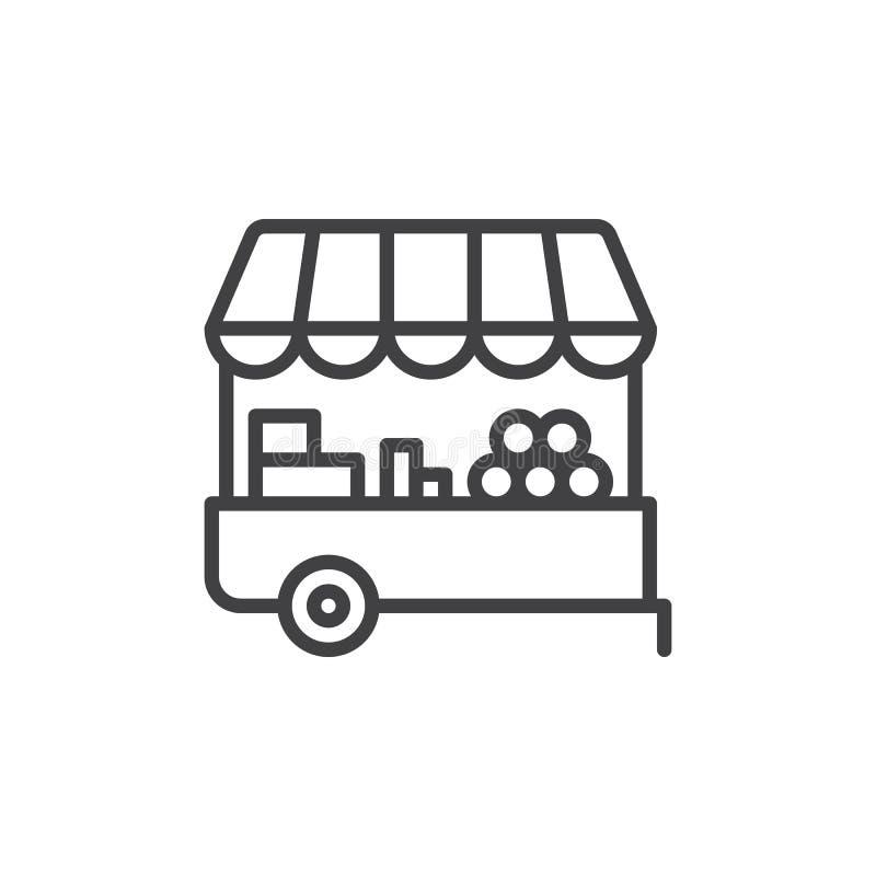 De lijnpictogram van de landbouwersbox, overzichts vectorteken, lineair die stijlpictogram op wit wordt geïsoleerd Symbool, emble vector illustratie