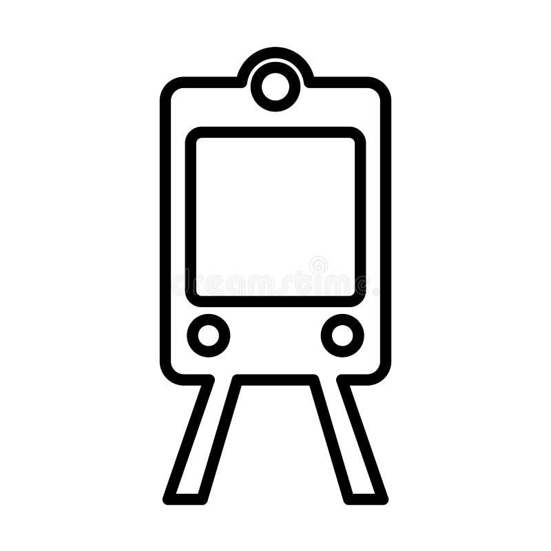 De lijnpictogram van de treinmetro Overzichts vectorteken Embleemillustratie royalty-vrije illustratie