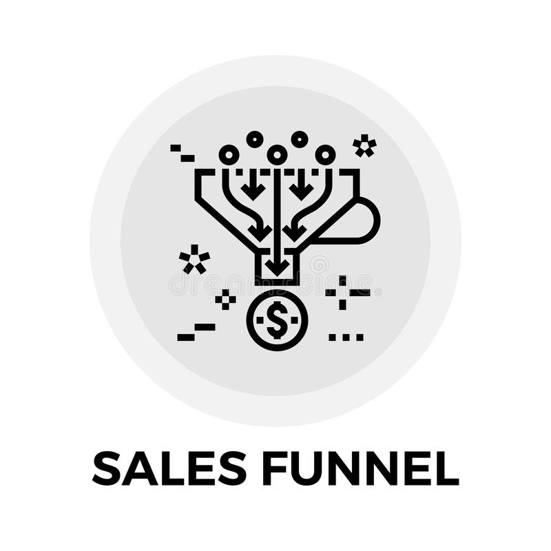 De Lijnpictogram van de verkooptrechter stock illustratie