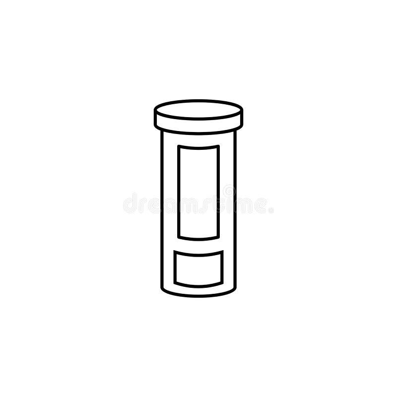 De lijnpictogram van de geneeskundefles Element van het Pictogram van Geneeskundehulpmiddelen Het grafische ontwerp van de premie vector illustratie