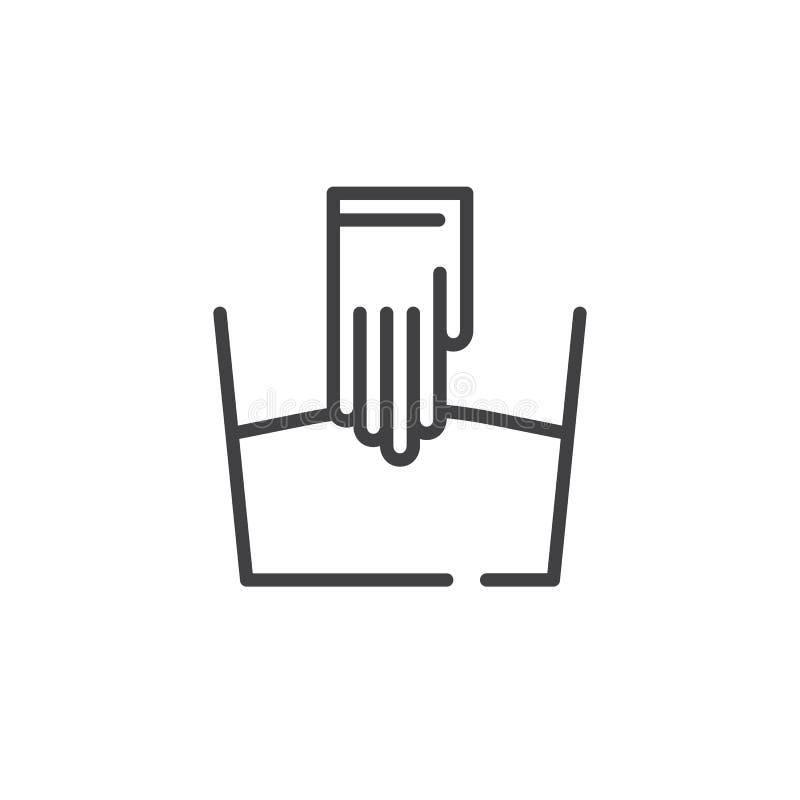 De lijnpictogram van de handwas vector illustratie