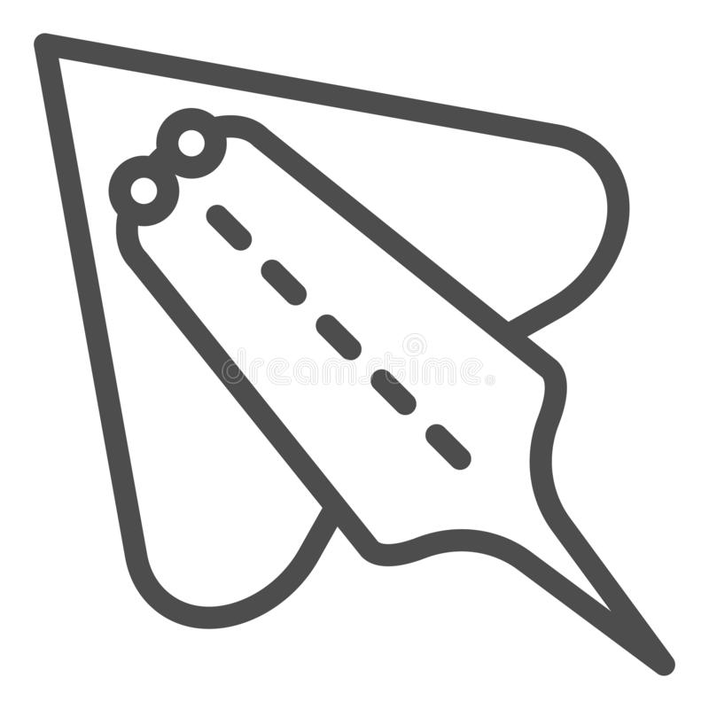 De lijnpictogram van hellingsvissen Elektrische pijlstaartrog vectordieillustratie op wit wordt geïsoleerd Het de stijlontwerp va royalty-vrije illustratie