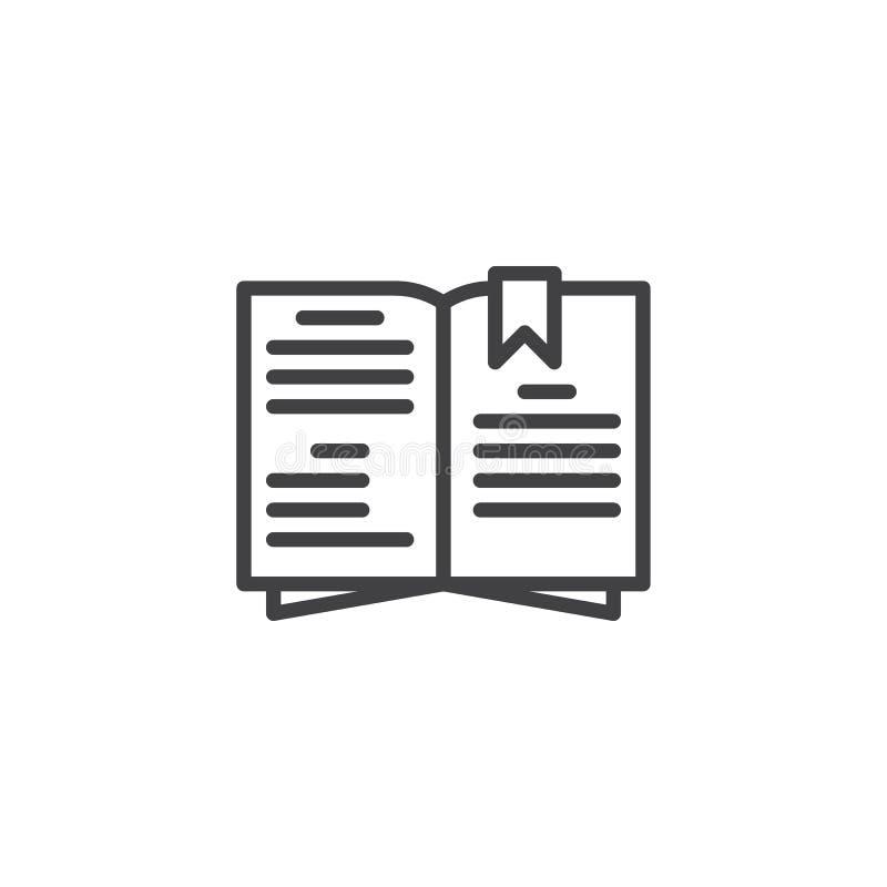 De lijnpictogram van het kokboek vector illustratie