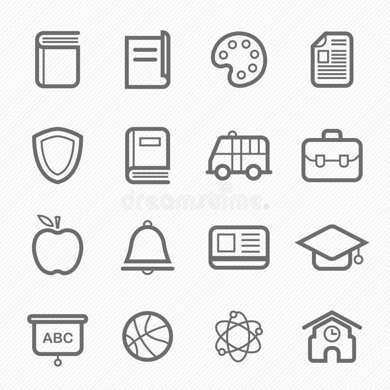 De lijnpictogram van het onderwijssymbool