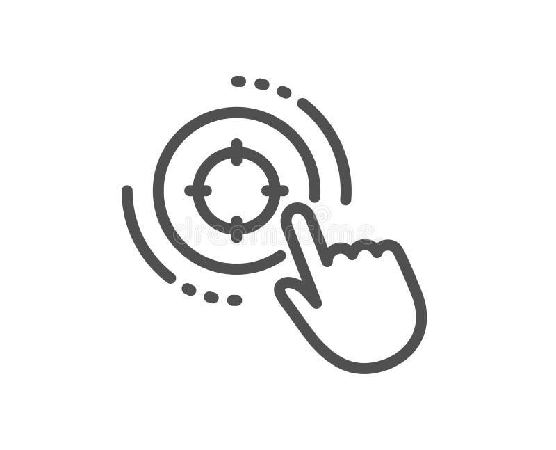 De lijnpictogram van het Seodoel Het teken van de zoekmachineoptimalisering Vector stock illustratie