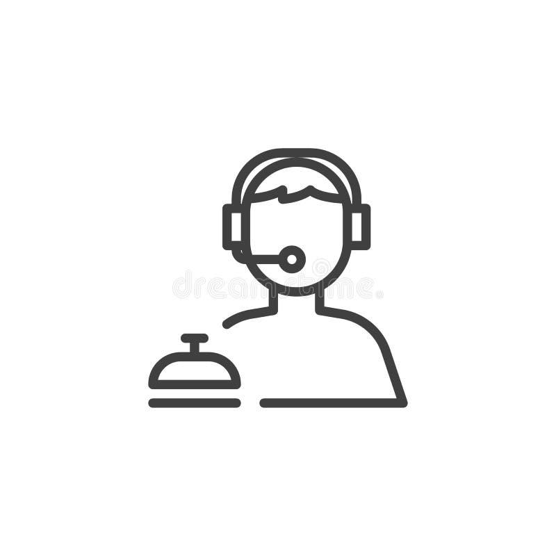 De lijnpictogram van de klantendienst royalty-vrije illustratie