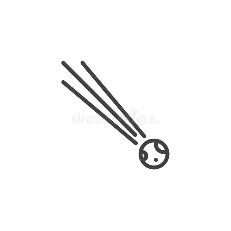 De lijnpictogram van de komeetstaart royalty-vrije illustratie