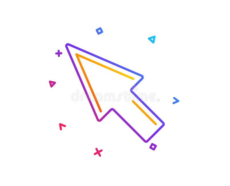 De lijnpictogram van de muiscurseur Wijzerteken Vector stock illustratie