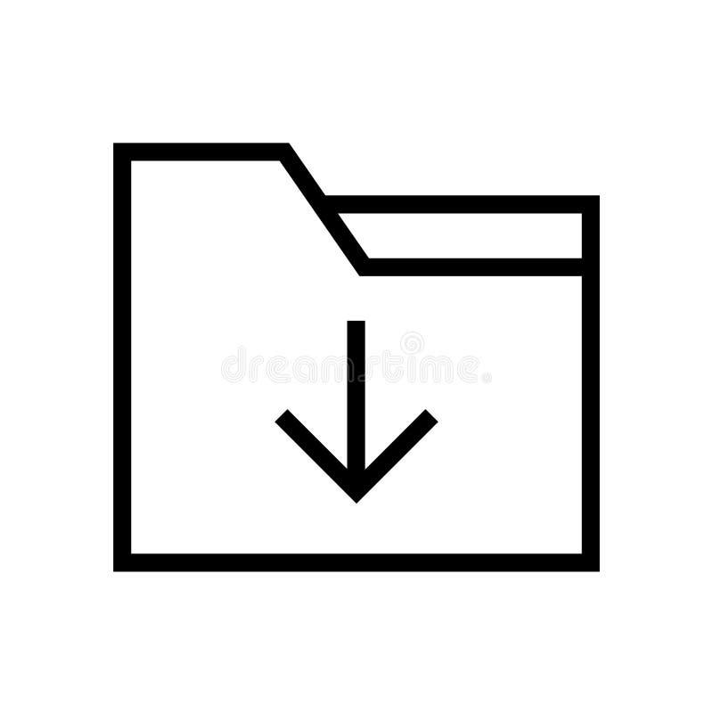De Lijnpictogram van de omslagdownload vector illustratie
