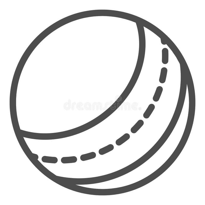 De lijnpictogram van de strandbal Stuk speelgoed vectordieillustratie op wit wordt ge?soleerd Opblaasbaar die de stijlontwerp van vector illustratie