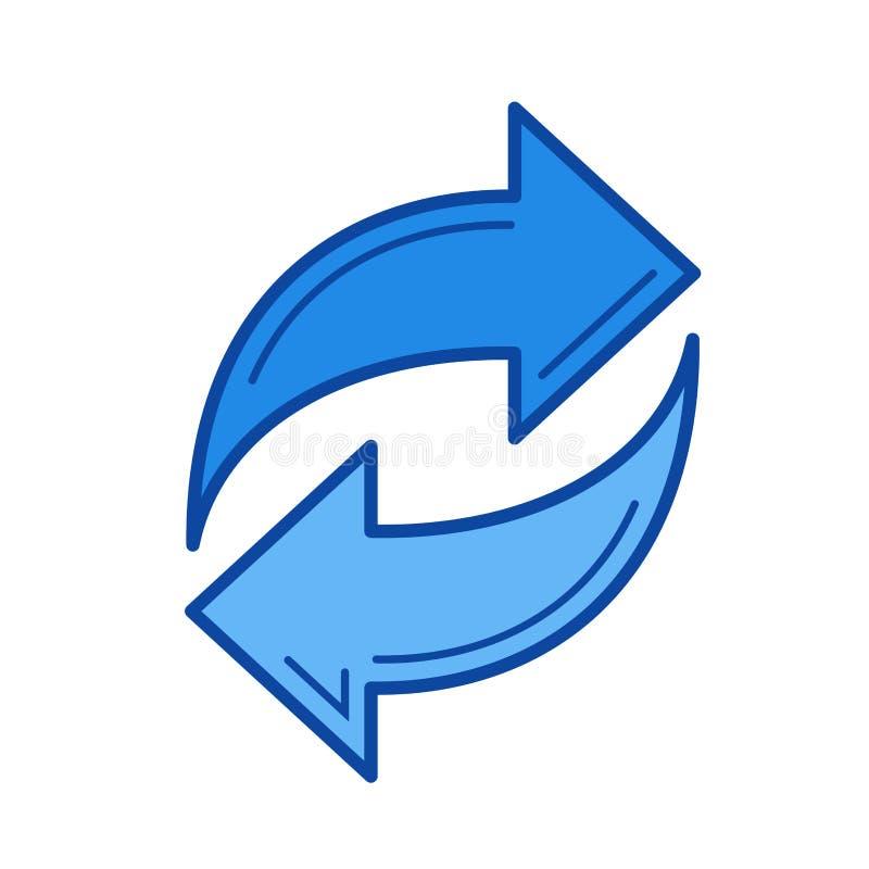 De lijnpictogram van Synchgegevens stock illustratie