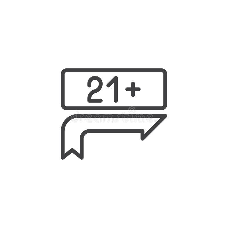 de lijnpictogram van de 21 tekenraad vector illustratie