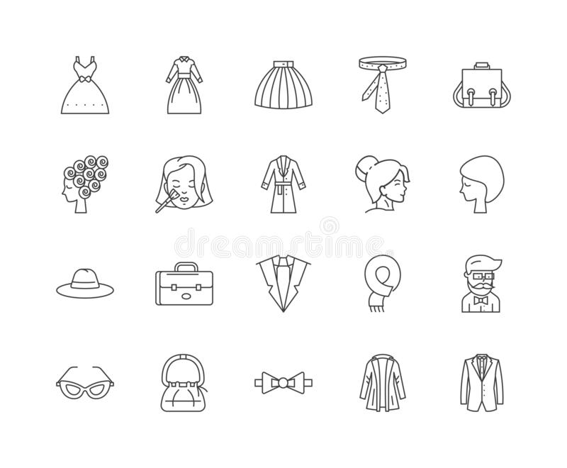 De lijnpictogrammen van de beeldadviseur, tekens, vectorreeks, het concept van de overzichtsillustratie stock illustratie