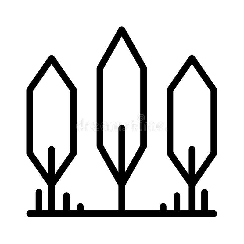 De lijnvector van het boompictogram royalty-vrije illustratie