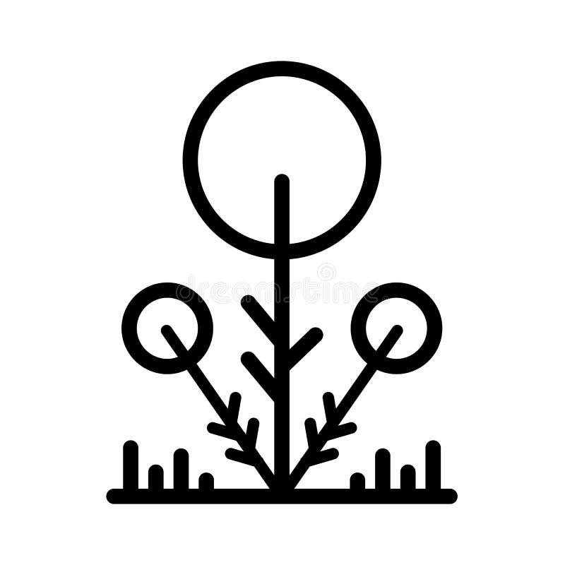 De lijnvector van het boompictogram stock illustratie