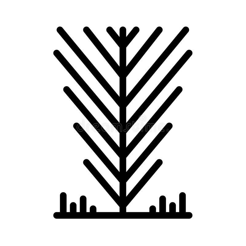 De lijnvector van het boompictogram vector illustratie