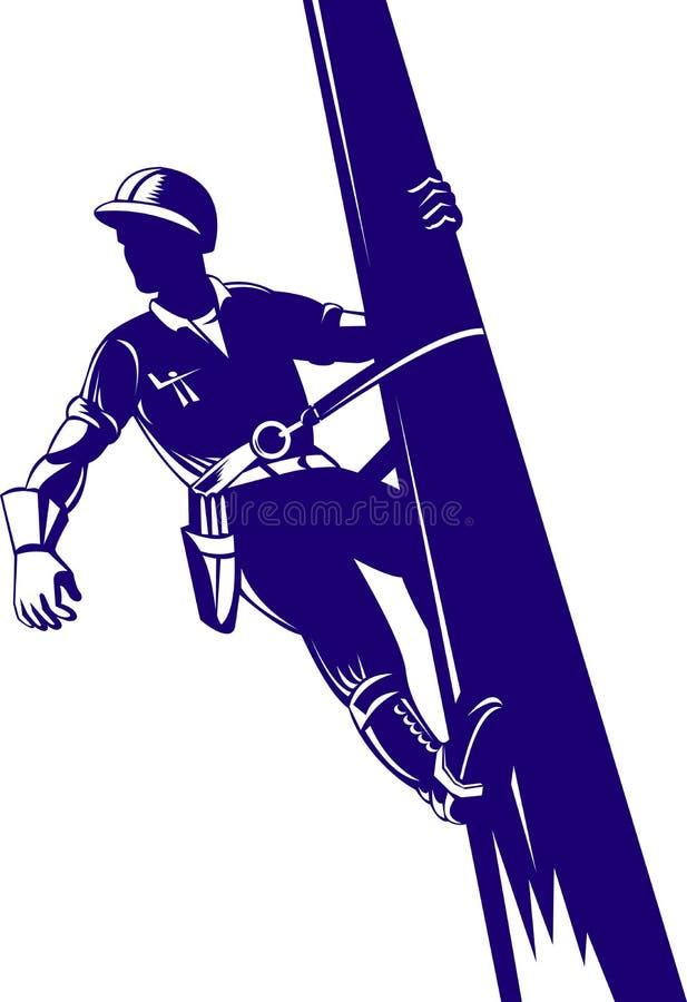 De lijnwachter van de macht het werken stock illustratie