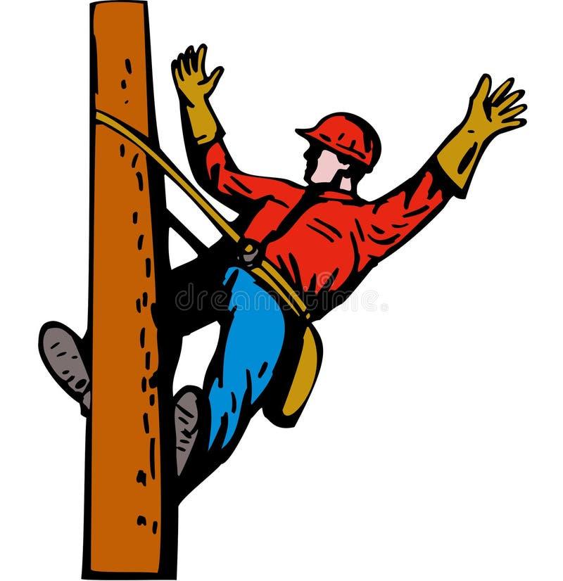 De lijnwachter van de macht op het werk vector illustratie