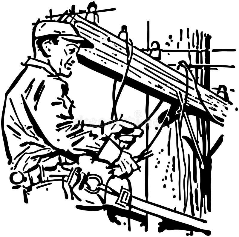 De Lijnwachter van Wichita vector illustratie