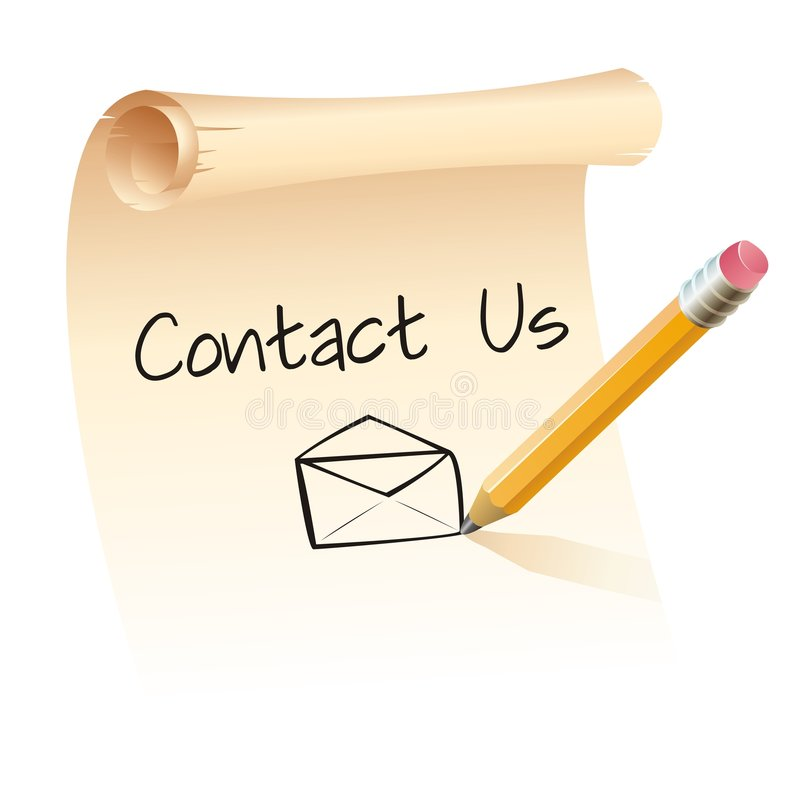 De lijst contacteert ons royalty-vrije illustratie