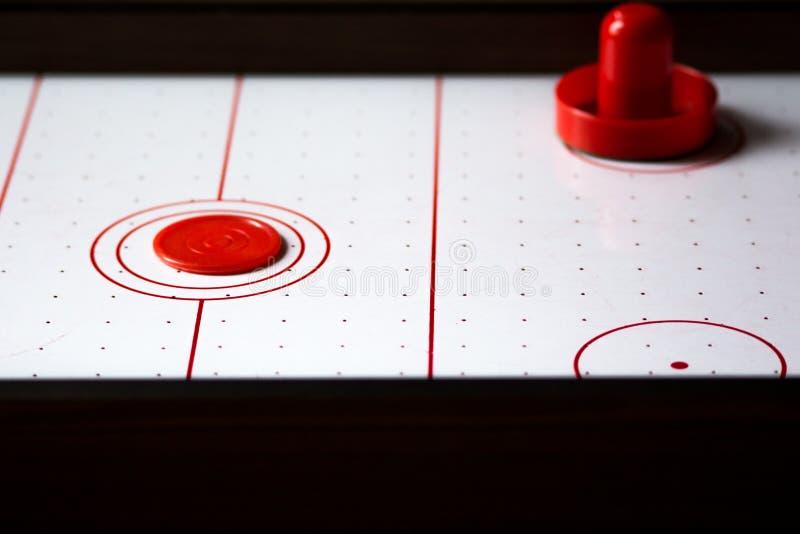 De lijst dichte omhooggaand van het luchthockey stock afbeeldingen