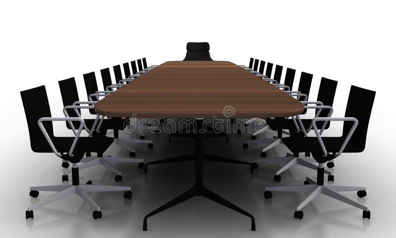 De lijst en de stoelen van de bestuurskamer vector illustratie
