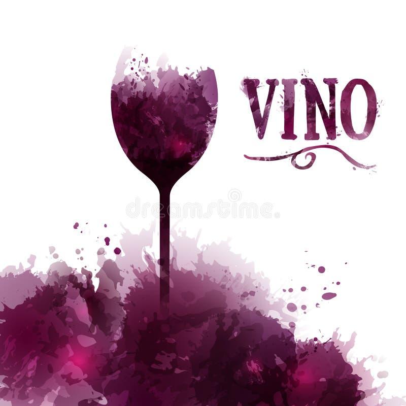 De lijst, de uitnodiging, de gebeurtenis of de partij van de malplaatjewijn Wijn in het Spaans vector illustratie