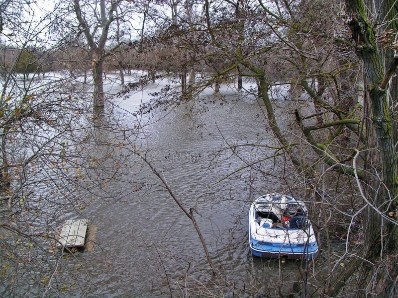 De Lijst van de boot en van de Picknick royalty-vrije stock foto's