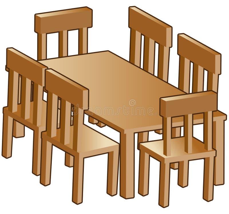 De lijst van de eetkamer vector illustratie