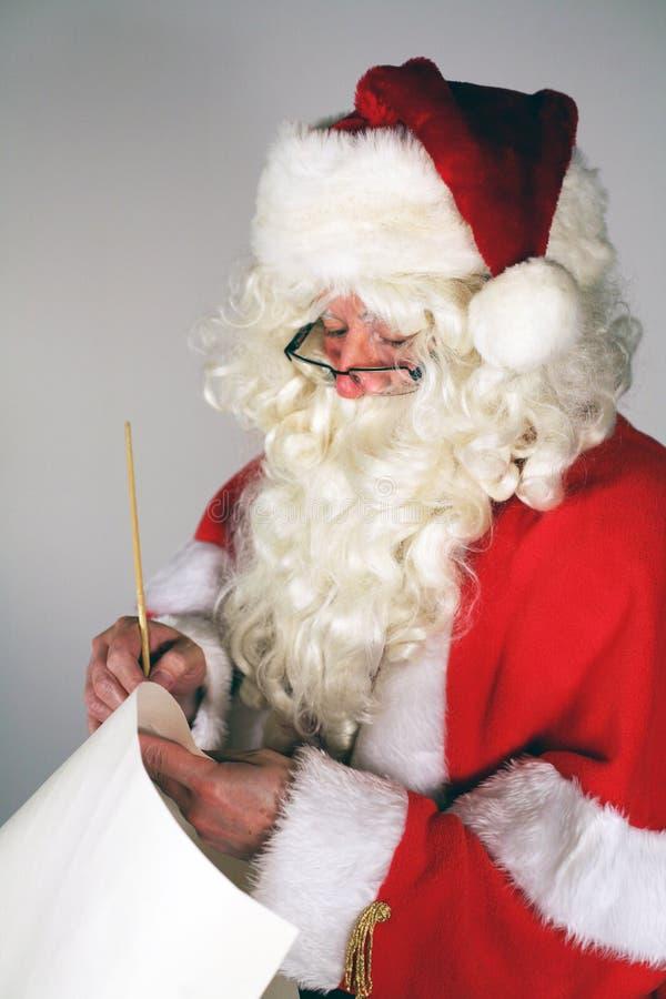 De lijst van de kerstman stock foto's