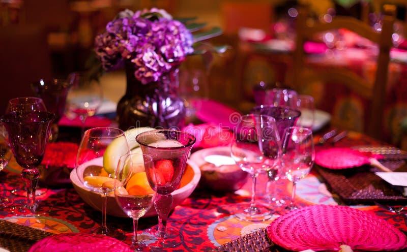 De lijst van het diner het plaatsen stock fotografie