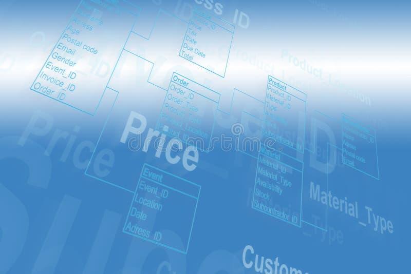 De Lijst van het gegevensbestand royalty-vrije stock afbeelding