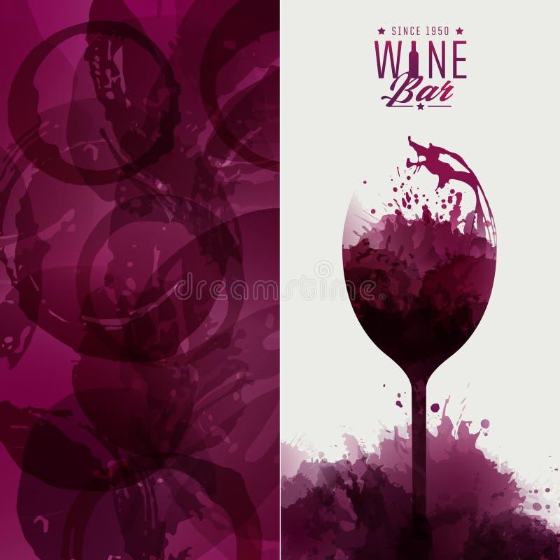 De lijst van het ontwerpmalplaatje, wijn het proeven of uitnodiging Illustratie g vector illustratie