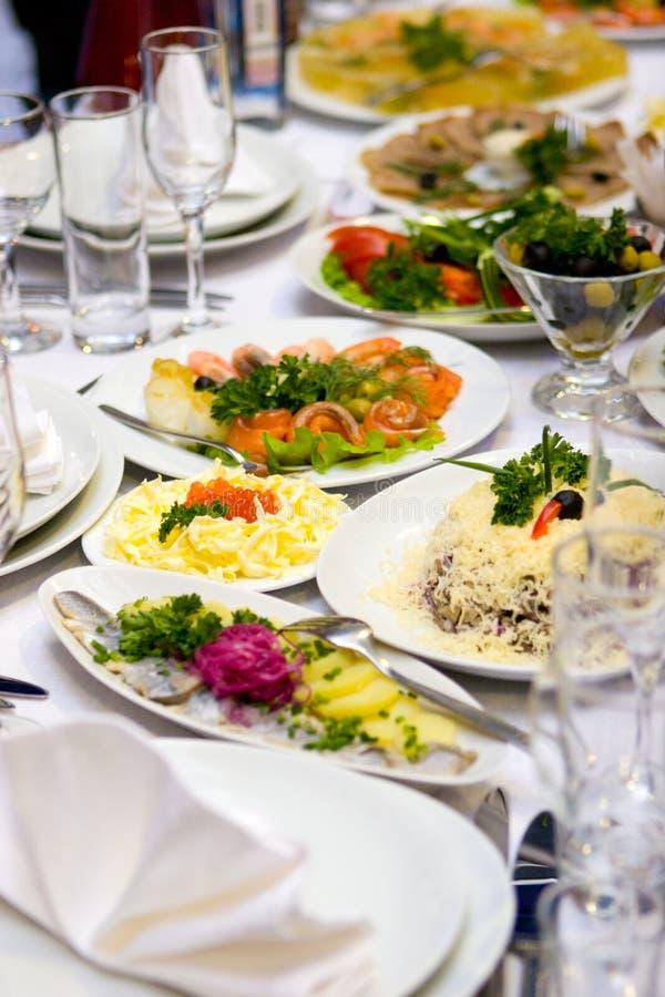 De lijst van het restaurant royalty-vrije stock afbeelding