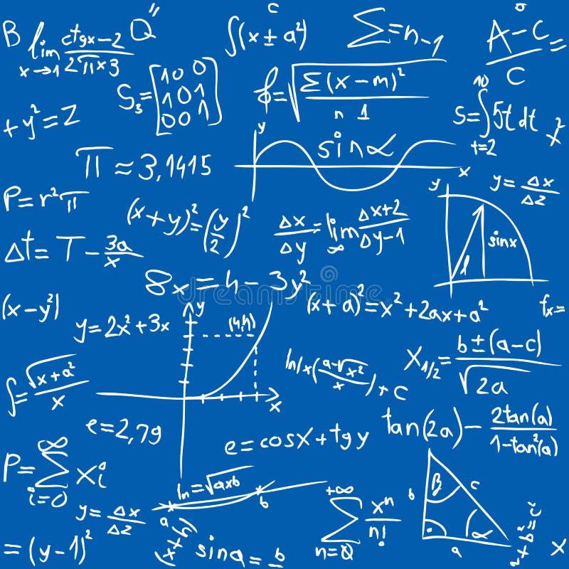 De lijst van Math stock illustratie