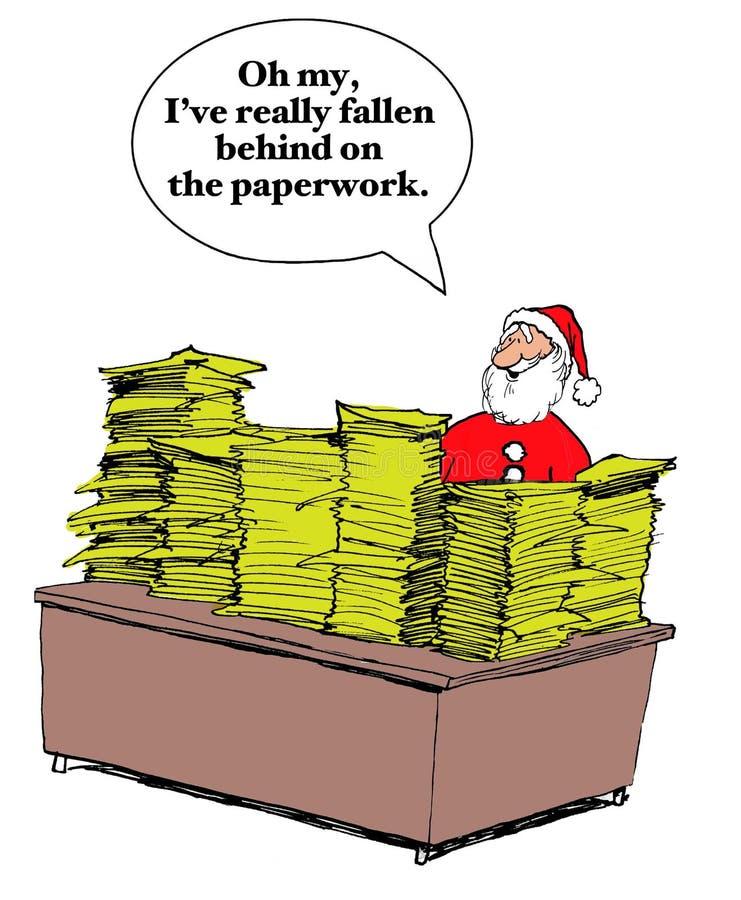 De Lijsten van de Kerstmiswens royalty-vrije illustratie