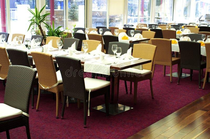 De lijsten van het restaurant royalty-vrije stock foto's