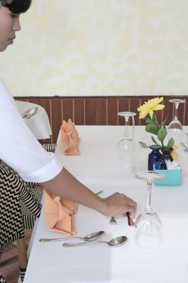 De lijstmanier van het restaurant royalty-vrije stock foto
