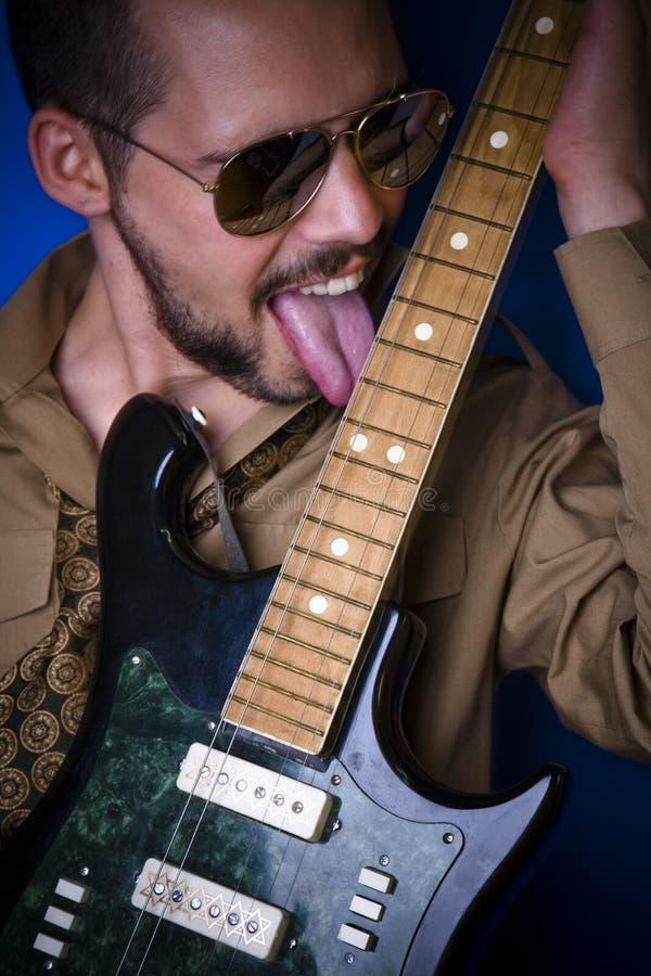 De likken van de gitaar stock fotografie