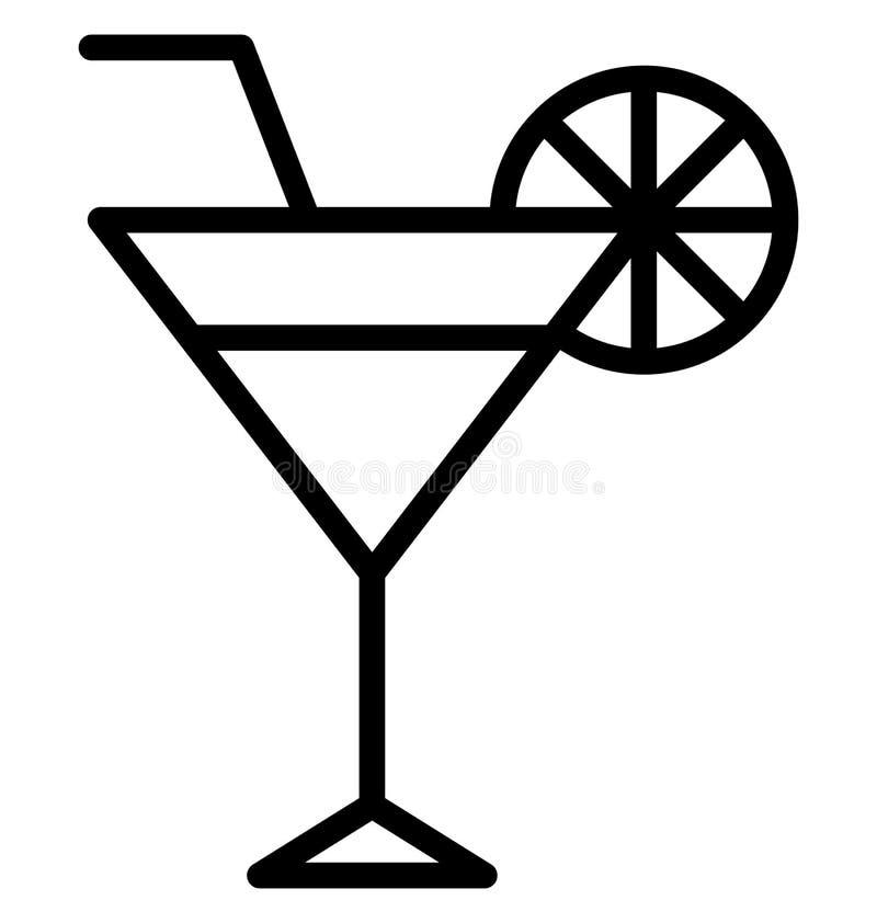 De limonade, Alcohol isoleerde Vectorpictogram dat gemakkelijk kan worden gewijzigd of worden uitgegeven stock illustratie