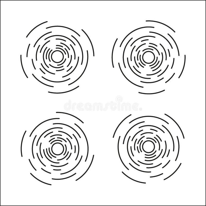 De lineaire tekening van zonstralen Gebarsten ster grafisch in uitstekende stijl Hand getrokken geïsoleerde zonnestraal vector illustratie