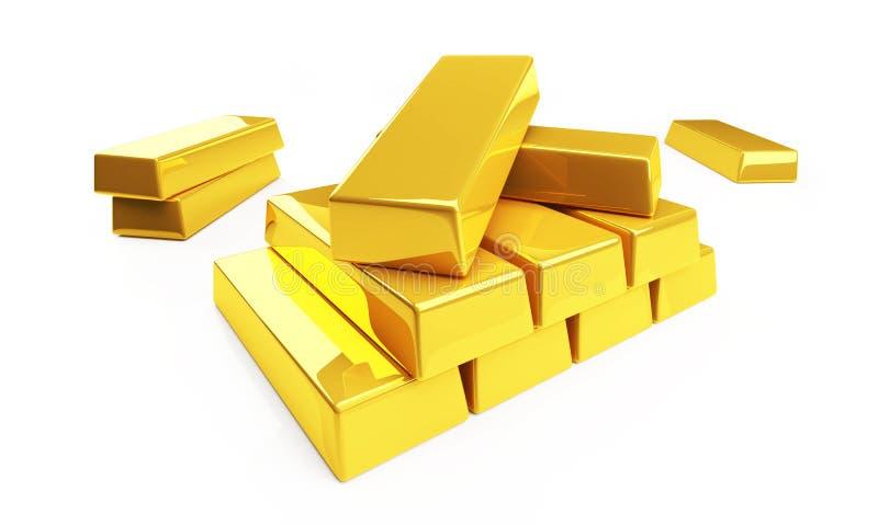 or de lingot illustration libre de droits
