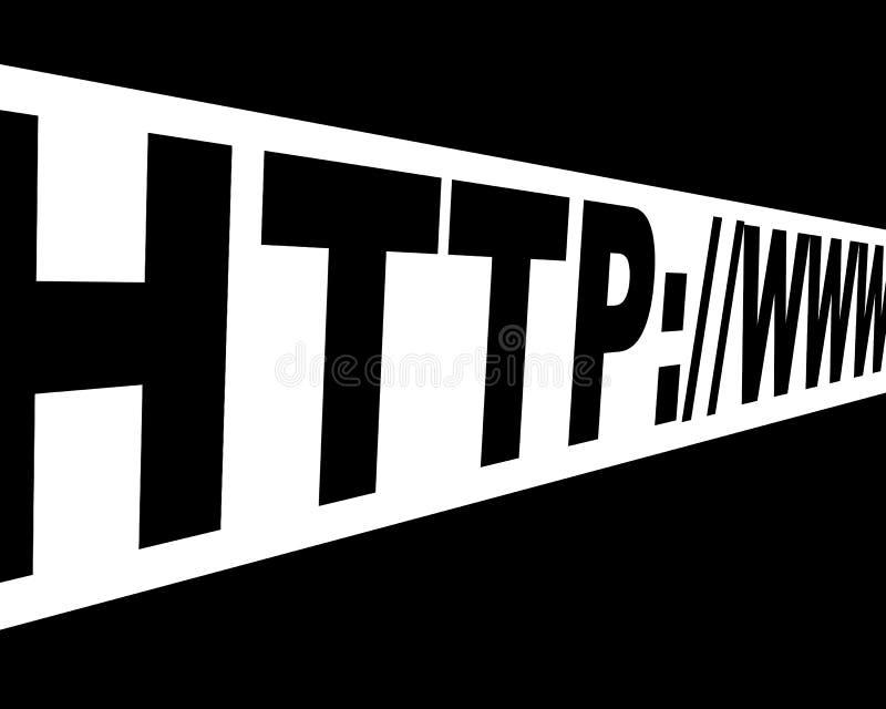 De link van Internet stock illustratie