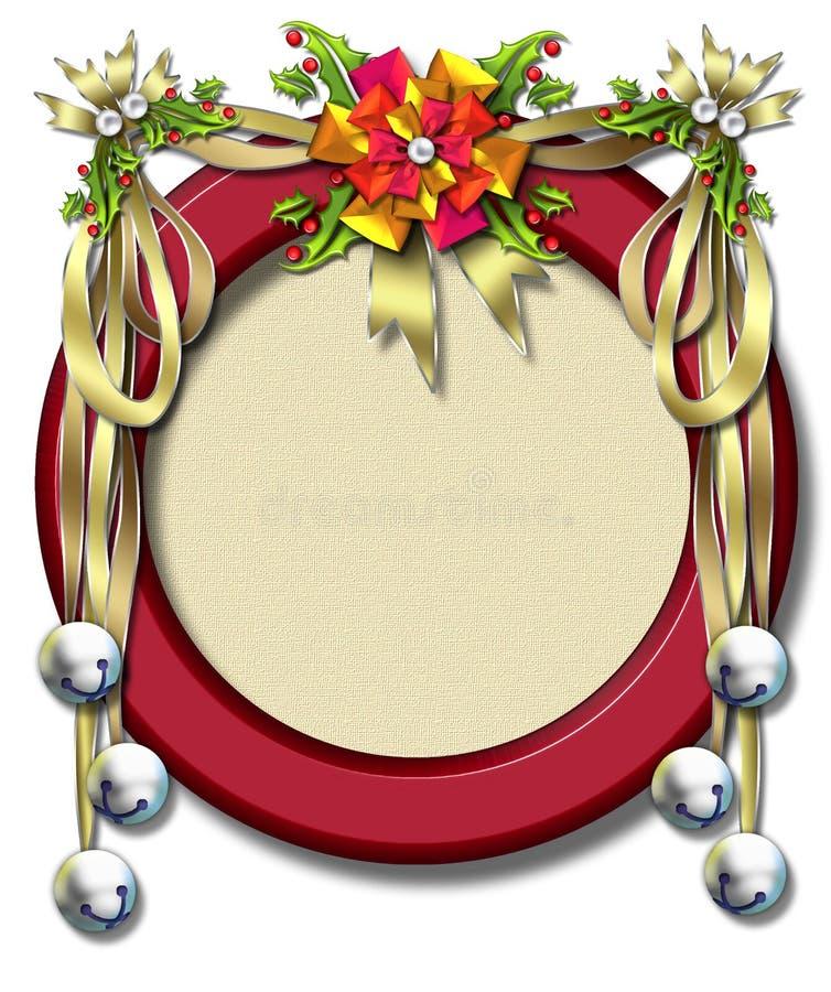 De lint-klok van de vakantie frame vector illustratie