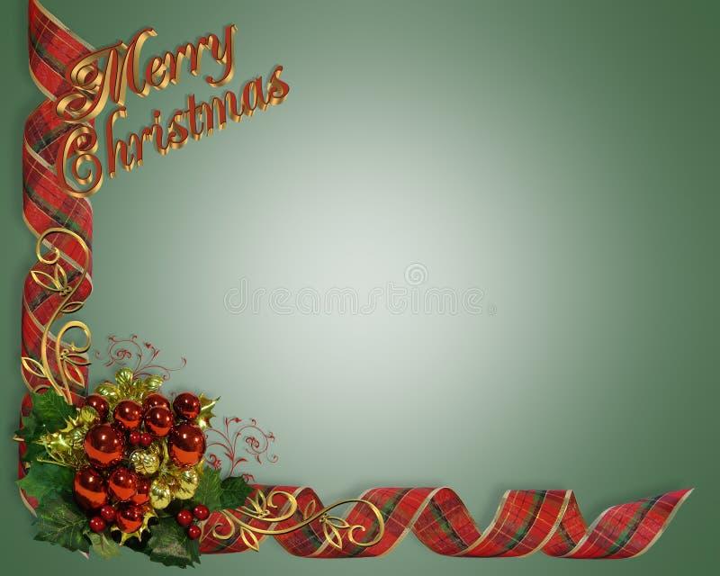 De Linten van de Grens van Kerstmis   stock illustratie